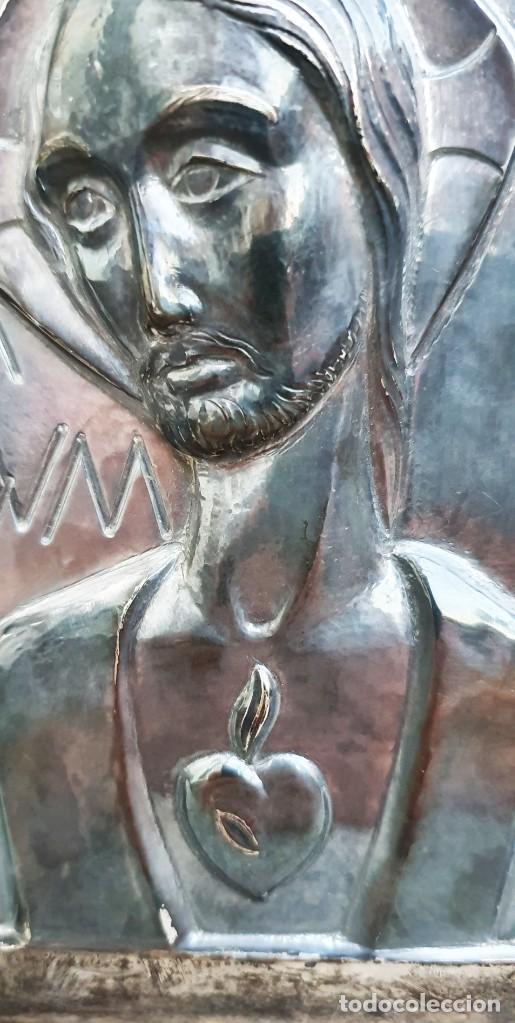 Antigüedades: JAUME MERCADER-MIRET - SAGRADO CORAZÓN - PLATERO SERRAHIMA. - Foto 2 - 206403222