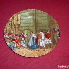 Antigüedades: PLATO DECORATIVO DE PORCELANA. TRIBUNAL DE LAS AGUAS DE VALENCIA.24.5 CM.. Lote 206406418