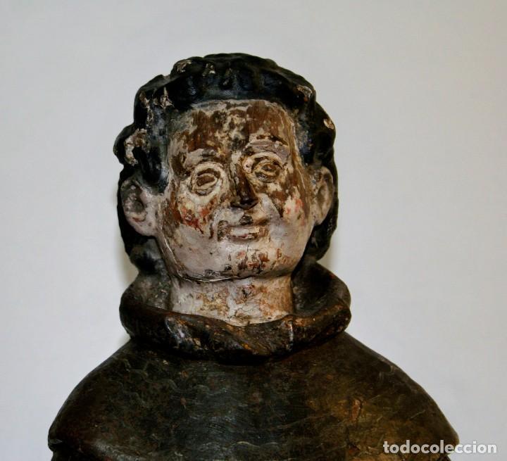 Antigüedades: Talla Franciscano siglo xvi - Foto 2 - 206134662