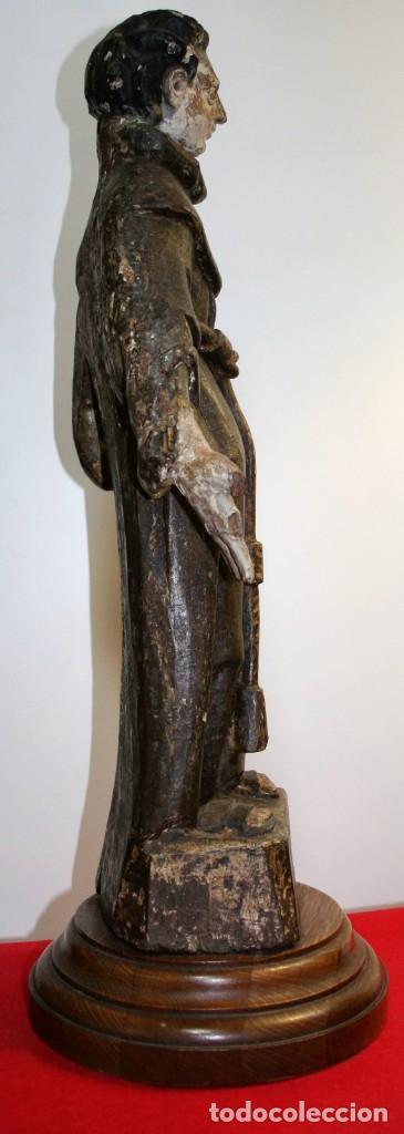 Antigüedades: Talla Franciscano siglo xvi - Foto 3 - 206134662