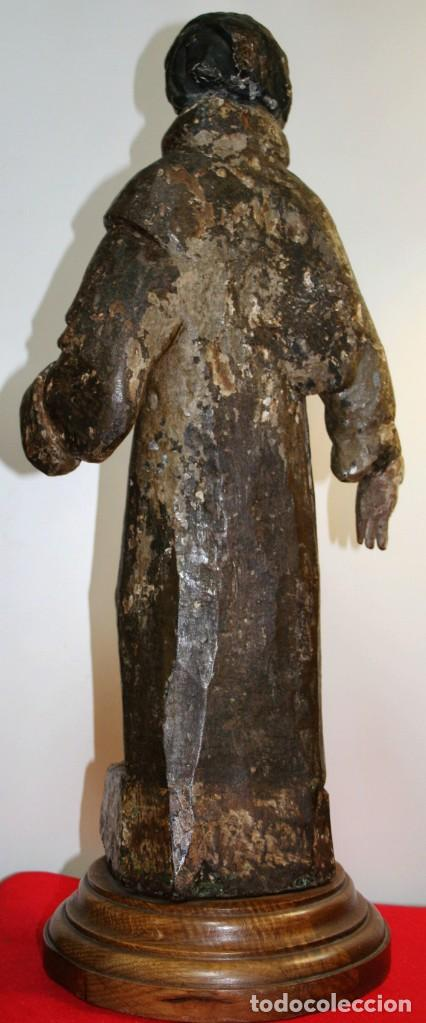 Antigüedades: Talla Franciscano siglo xvi - Foto 4 - 206134662