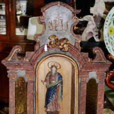 Antigüedades: HORNACINA MADERA SIGLO XIX. Lote 206131205
