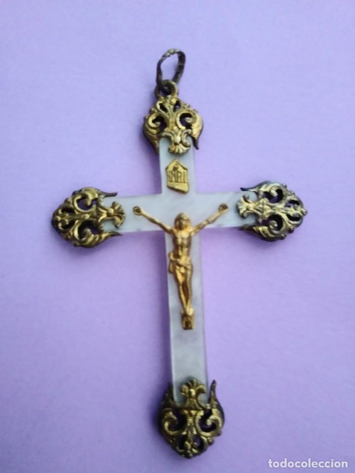 ANTIGUA CRUZ NACAR (Antigüedades - Religiosas - Cruces Antiguas)