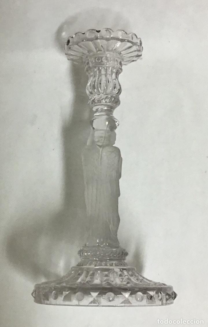 Antigüedades: ANTIGUOS CANDELEROS DE CRISTAL - Foto 3 - 206424247