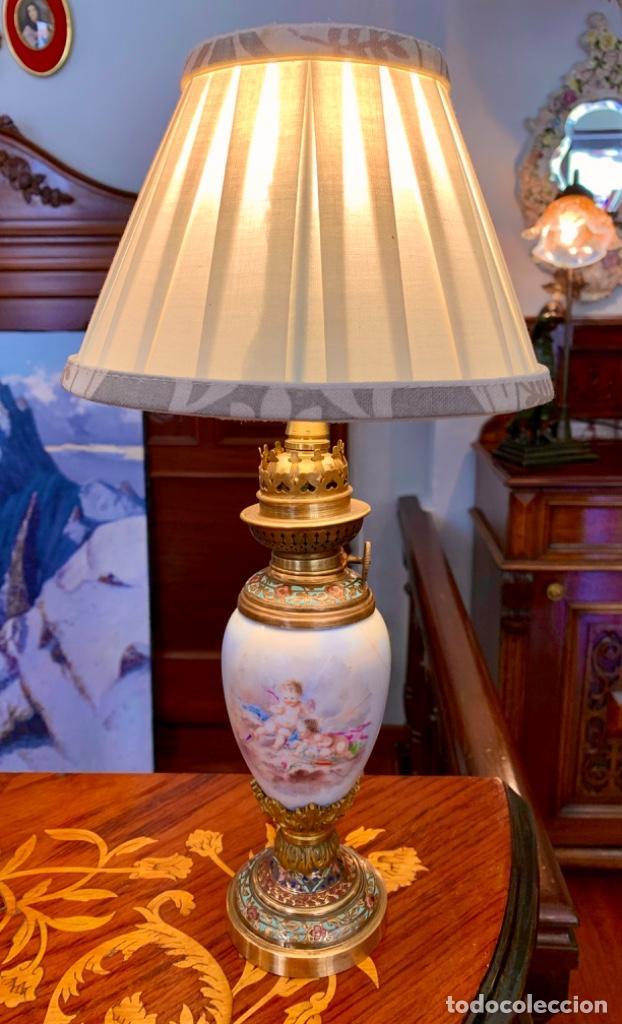 MARAVILLOSA LAMPARITA ANTIGUA (Antigüedades - Iluminación - Lámparas Antiguas)