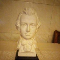 Antigüedades: BUSTO DE MOZART DE PORCELANA FIRMADO BACHINANA.BISCUIT. GOEBEL W GERMANY. Lote 206434736