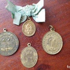Antigüedades: CUATRO MEDALLAS RELIGIOSAS: HIJAS DE MARIA Y DE LA INMACULADA CONCEPCION, STA ANA Y LA PURISIMA. Lote 206441563