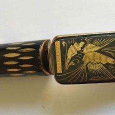Antigüedades: ANTIGUO ESTUCHE PINTALABIOS CON ESPEJO (METÁLICO, 1960-70'S). ORIGINAL ¡COLECCIONISTA!. Lote 206442403