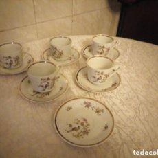 Antigüedades: ANTIGUO JUEGO DE PORCELANA DE CAFE O DESAYUNO KALA MADE IN G D R ,MOTIVO PAJAROS. Lote 206443241