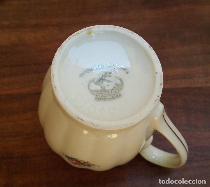 Antigüedades: ANTIGUO JUEGO DE CAFÉ PORCELANA SANTA CLARA SELLO EN PLATA, PERFECTO ESTADO, DISEÑO FLORAL - Foto 8 - 206445493