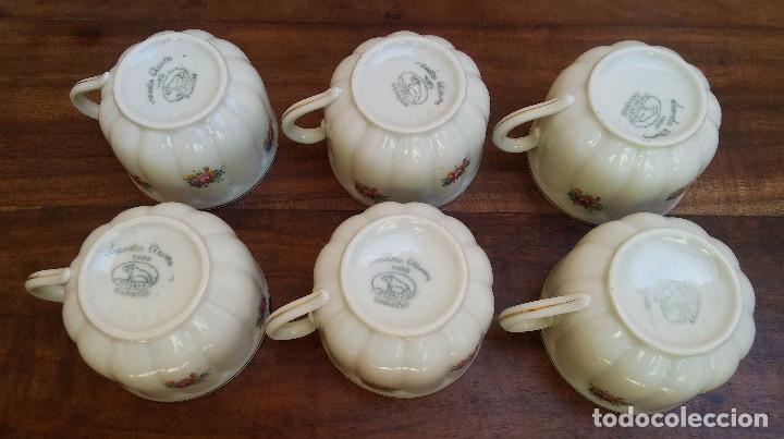 Antigüedades: ANTIGUO JUEGO DE CAFÉ PORCELANA SANTA CLARA SELLO EN PLATA, PERFECTO ESTADO, DISEÑO FLORAL - Foto 12 - 206445493