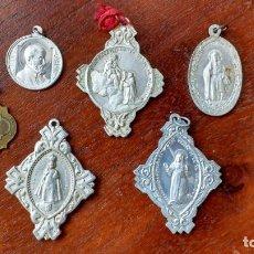 Antigüedades: SEIS MEDALLAS RELIGIOSAS: NIÑO JESUS PRAGA (2), BEATA IMELDA, N.S.ESPERANZA, S.GAETANO Y N.S.PILAR. Lote 206446787