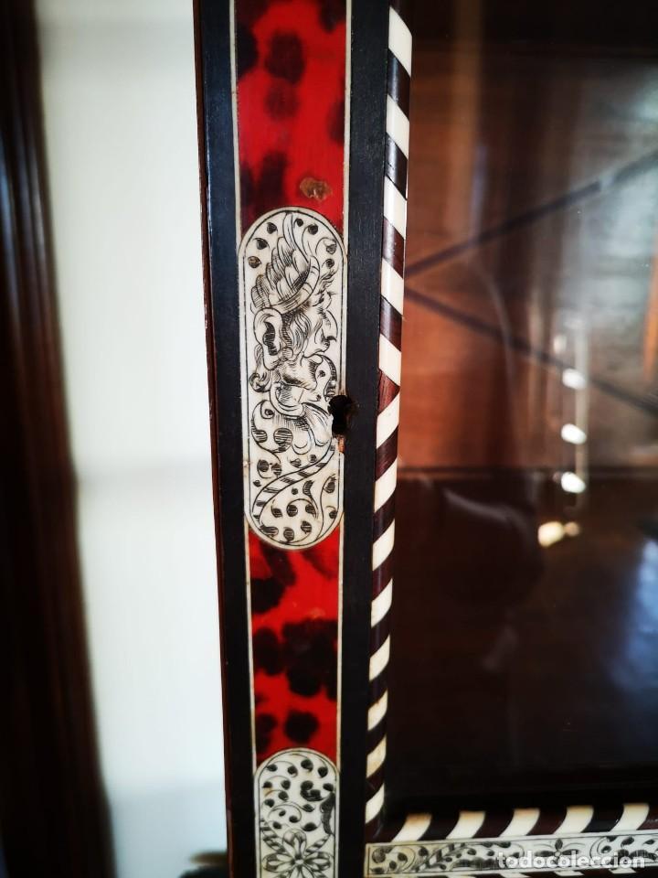 Antigüedades: Bargueño/vitrina hispano filipino - Foto 4 - 206453797