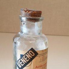 Antigüedades: FRASCO ANTIGUO DE FARMACIA ACIDO ARSENIOSO. Lote 206456400
