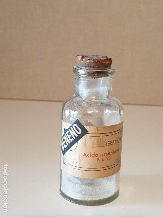Antigüedades: FRASCO ANTIGUO DE FARMACIA ACIDO ARSENIOSO VENENO - Foto 5 - 206456400