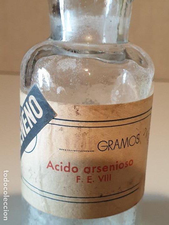 Antigüedades: FRASCO ANTIGUO DE FARMACIA ACIDO ARSENIOSO VENENO - Foto 4 - 206456400