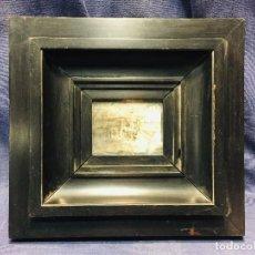 Antigüedades: MARCO NEGRO MOLDURA EBONIZADO AÑOS 60 70 28X28CMS. Lote 206456565