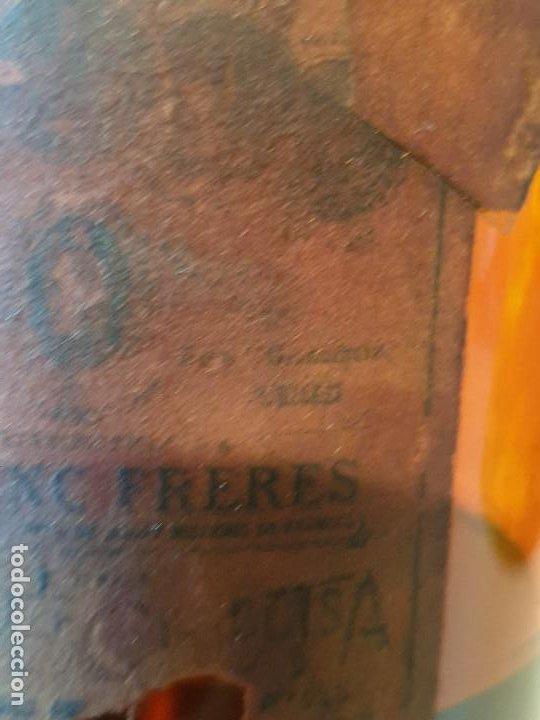 Antigüedades: MUY RARO FRASCO ANTIGUO DE FARMACIA POULENC FRERES DANGEREUX - Foto 7 - 206457177