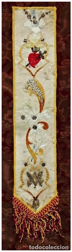 ÍNFULA DE LA MITRA DEL CARDENAL ILUNDAIN, (1925-1937) (Antigüedades - Religiosas - Artículos Religiosos para Liturgias Antiguas)