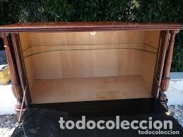 Antigüedades: mueble bar años 40/50 cerezo Silvestre ,con estante de cristal ,luz y 2 cajones para cubiertos - Foto 2 - 206473910