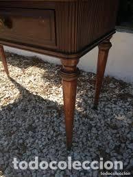 Antigüedades: mueble bar años 40/50 cerezo Silvestre ,con estante de cristal ,luz y 2 cajones para cubiertos - Foto 6 - 206473910