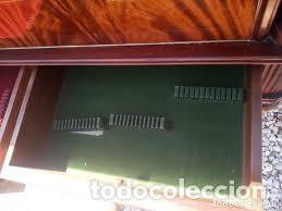 Antigüedades: mueble bar años 40/50 cerezo Silvestre ,con estante de cristal ,luz y 2 cajones para cubiertos - Foto 9 - 206473910