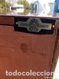 Antigüedades: mueble bar años 40/50 cerezo Silvestre ,con estante de cristal ,luz y 2 cajones para cubiertos - Foto 12 - 206473910