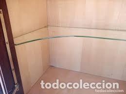 Antigüedades: mueble bar años 40/50 cerezo Silvestre ,con estante de cristal ,luz y 2 cajones para cubiertos - Foto 13 - 206473910