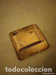 PEQUEÑO VACIABOLSILLOS DE METAL BAÑADO EN PLATA,VINTAGE. (Antigüedades - Platería - Bañado en Plata Antiguo)