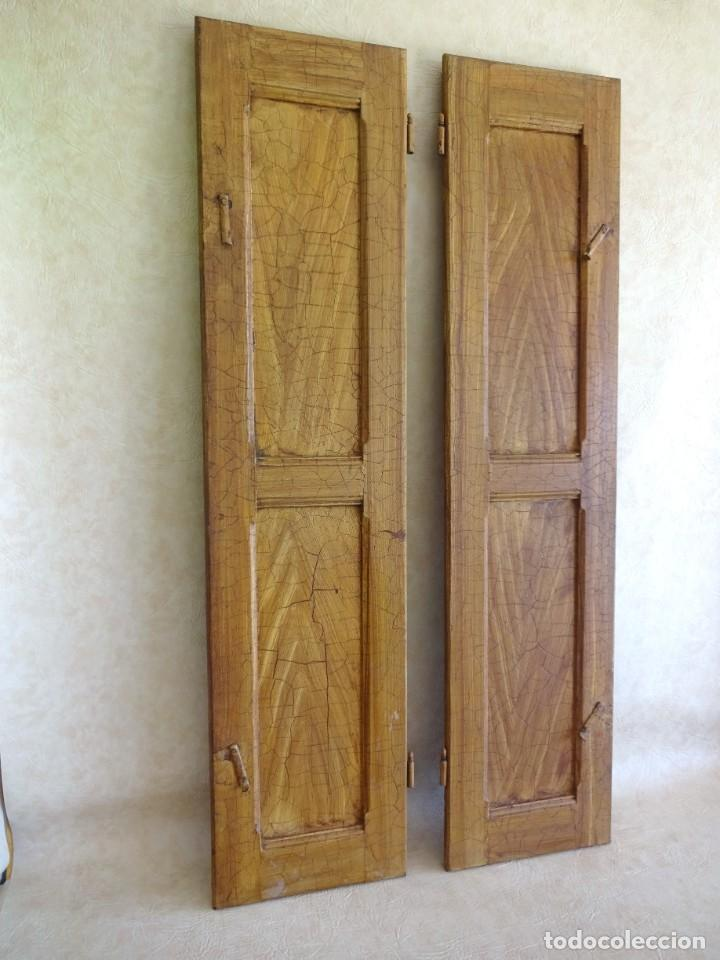 Antigüedades: conjunto de 2 antiguos porticones ventana 1,3 m x 31 cm - Foto 2 - 53532795