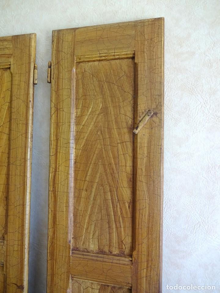 Antigüedades: conjunto de 2 antiguos porticones ventana 1,3 m x 31 cm - Foto 4 - 53532795