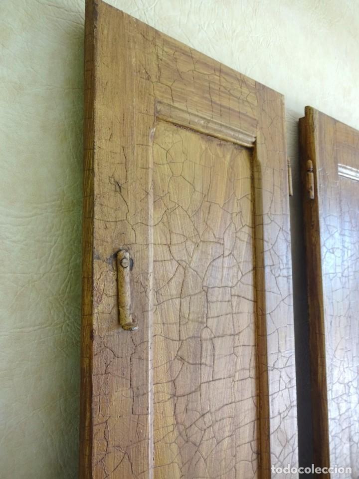 Antigüedades: conjunto de 2 antiguos porticones ventana 1,3 m x 31 cm - Foto 7 - 53532795