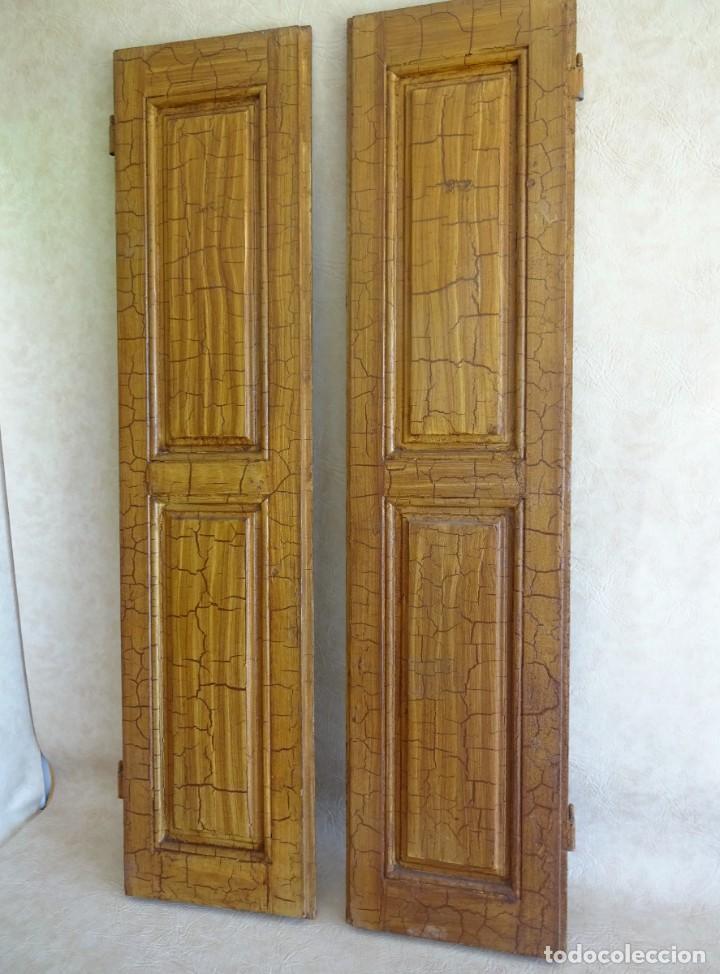 Antigüedades: conjunto de 2 antiguos porticones ventana 1,3 m x 31 cm - Foto 11 - 53532795