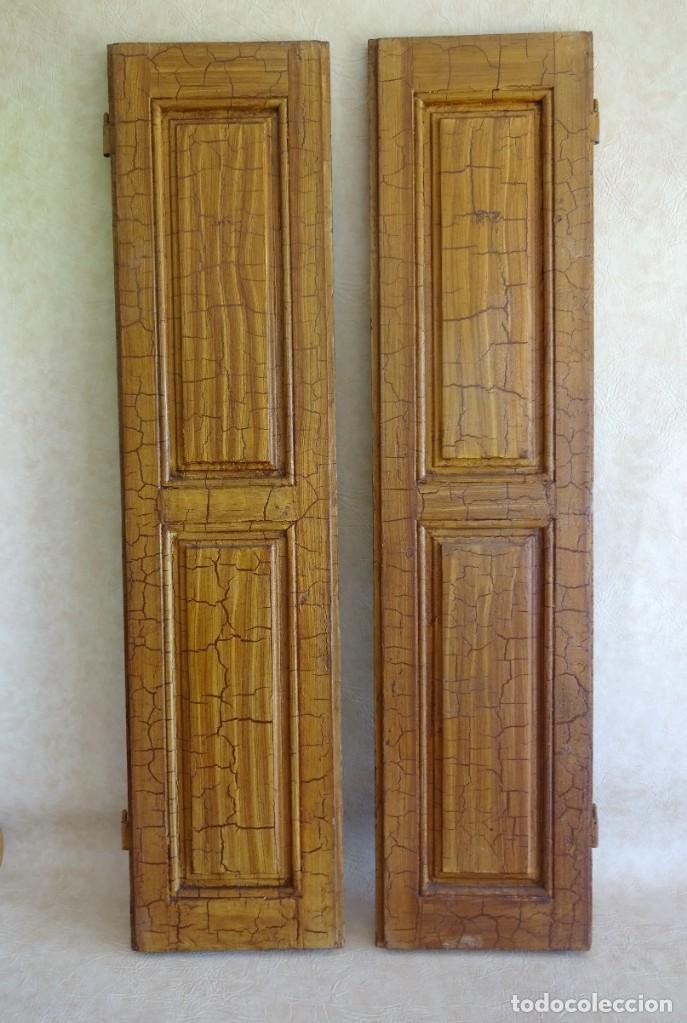 Antigüedades: conjunto de 2 antiguos porticones ventana 1,3 m x 31 cm - Foto 10 - 53532795