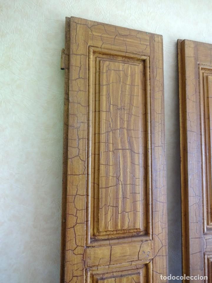 Antigüedades: conjunto de 2 antiguos porticones ventana 1,3 m x 31 cm - Foto 12 - 53532795