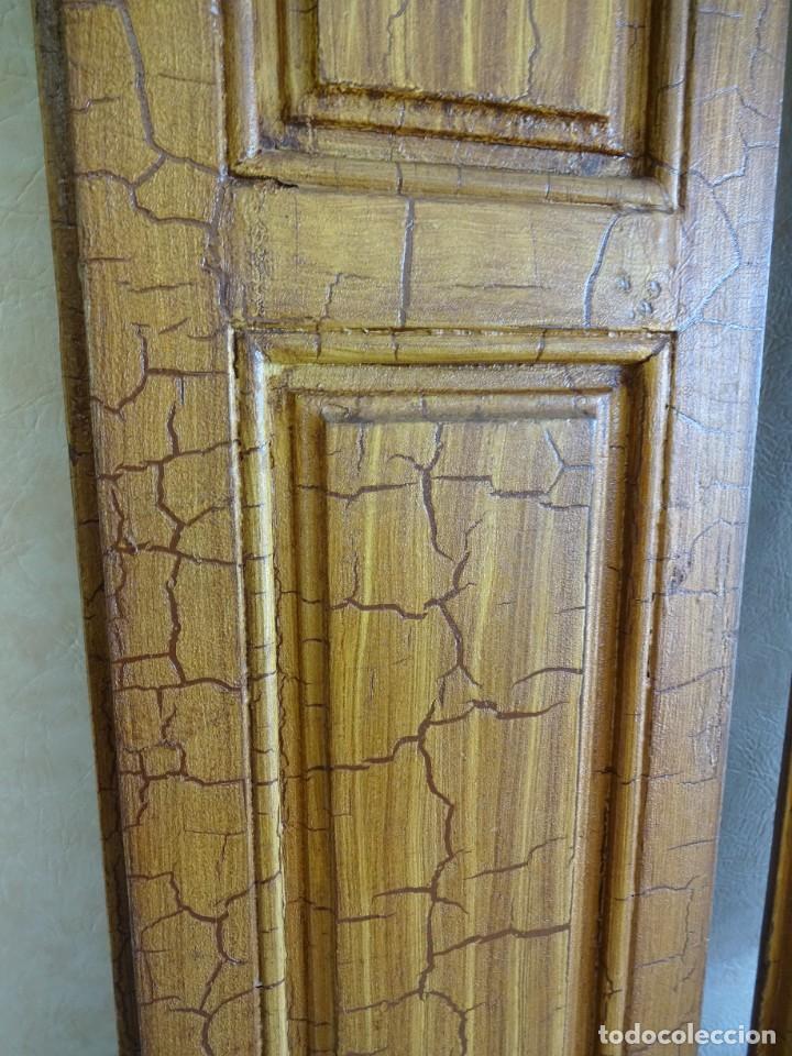 Antigüedades: conjunto de 2 antiguos porticones ventana 1,3 m x 31 cm - Foto 13 - 53532795
