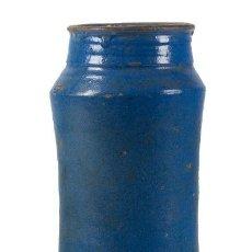 Antigüedades: BOTE DE FARMACIA. CATALUÑA, SIGLO XVI. DECORADO EN AZUL. ALT. 29 CM. Lote 206489938