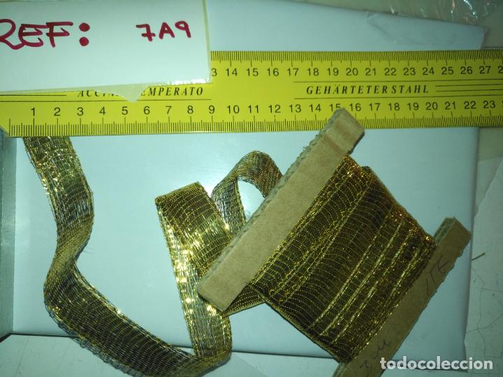 Antigüedades: ANTIGUO GALON DORADO ORO 3 METROS X 2 CM ANCHO , IDEAL VIRGEN SEMANA SANTA 3 METROS X 2 CM APROXIMA - Foto 15 - 206491848