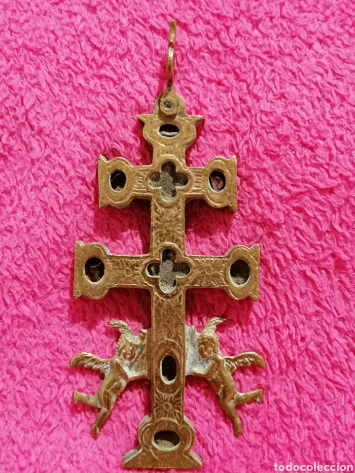Antigüedades: CRUZ DE CARAVACA SIGLO XVIII - Foto 13 - 206495868