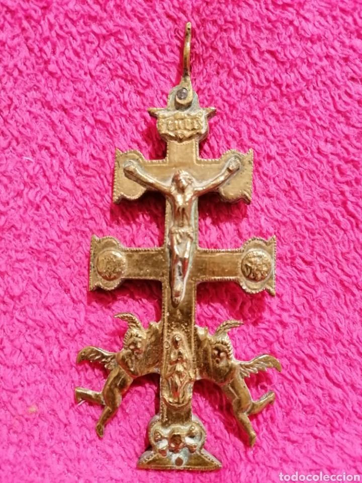 Antigüedades: CRUZ DE CARAVACA SIGLO XVIII - Foto 18 - 206495868