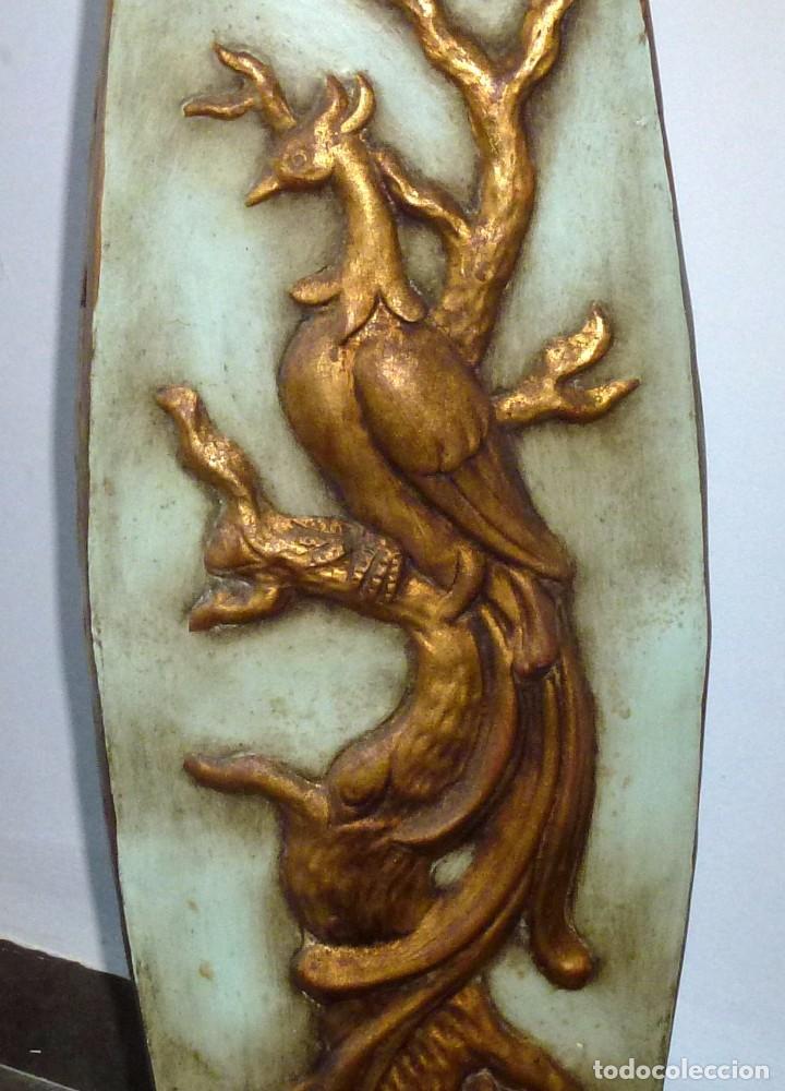Antigüedades: Preciosa Peana De Ceramica Con Motivos Asiaticos Con Sello Franju.80 Cm.Años 60. - Foto 9 - 206500103