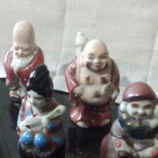 Antigüedades: ~~~~ BONITO Y DECORATIVO GRUPO DE FIGURAS DE PORCELANA CHINA, DIOSES SABIOS ~~~~. Lote 206503691