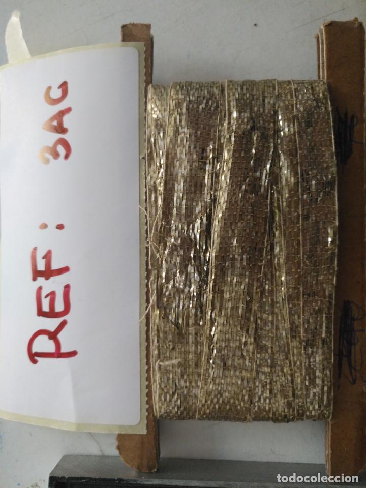 Antigüedades: ANTIGUO GALON PLATA HOJILLA METAL 3,8 METROS X 1,3 CM ANCHO , IDEAL VIRGEN SEMANA SANTA - Foto 5 - 206510138
