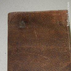 Antigüedades: ANTIGUA CARTERA DE PIEL Y PLATA. Lote 206514846