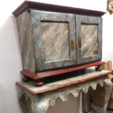 Antigüedades: BARGUEÑO ITALIANO CON MESA S.XVIII. Lote 206530761