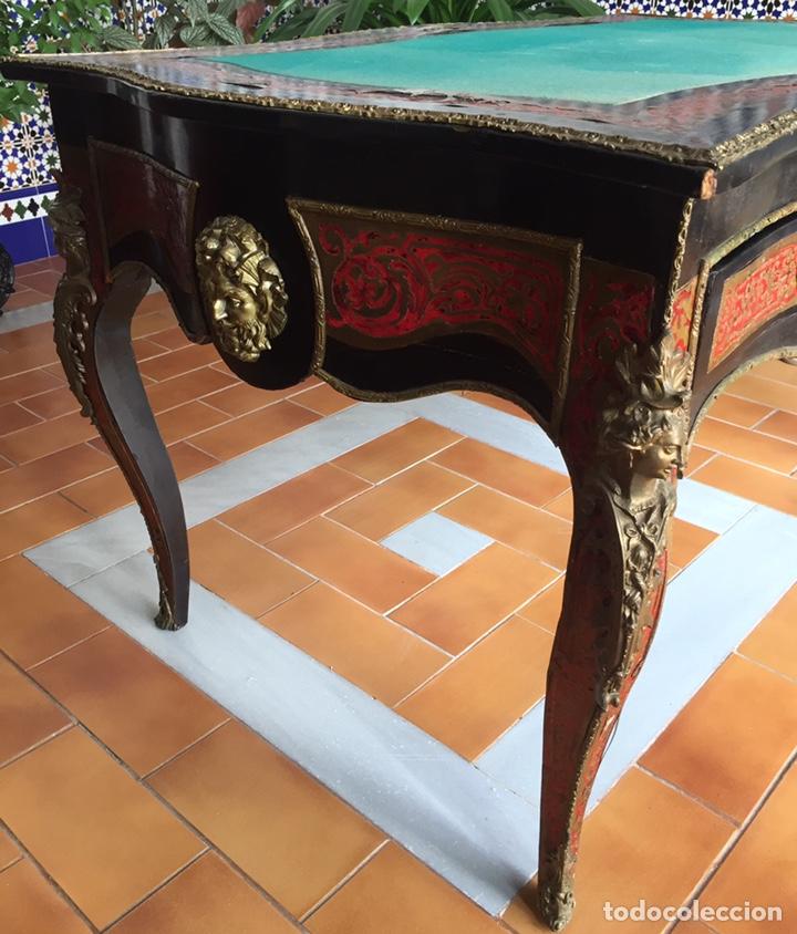 Antigüedades: ESPECTACULAR MESA DE DESPACHO FRANCESA ESTILO BOULLÉ SIGLO XIX - Foto 4 - 206543216