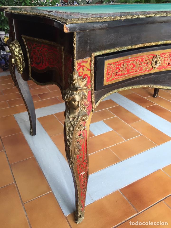 Antigüedades: ESPECTACULAR MESA DE DESPACHO FRANCESA ESTILO BOULLÉ SIGLO XIX - Foto 6 - 206543216