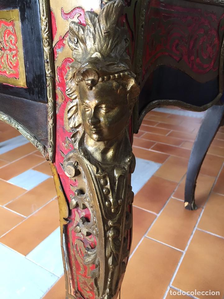Antigüedades: ESPECTACULAR MESA DE DESPACHO FRANCESA ESTILO BOULLÉ SIGLO XIX - Foto 7 - 206543216