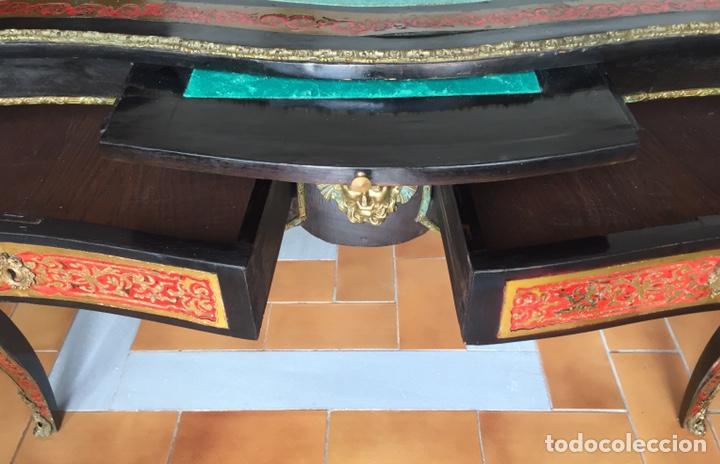 Antigüedades: ESPECTACULAR MESA DE DESPACHO FRANCESA ESTILO BOULLÉ SIGLO XIX - Foto 9 - 206543216
