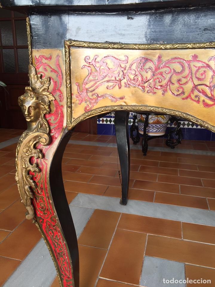 Antigüedades: ESPECTACULAR MESA DE DESPACHO FRANCESA ESTILO BOULLÉ SIGLO XIX - Foto 20 - 206543216